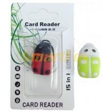 Картридер T-Flash/Micro SD Micro Card Reader БОЖЬЯ КОРОВКА