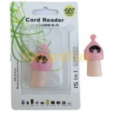 Картридер T-Flash/Micro SD Micro Card Reader ГОЛОВА В ШАПКЕ
