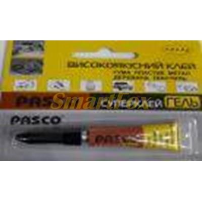 Суперклей гель высококачественный PASCO 3г (цена за 1 шт, продажа упаковкой 12 шт)
