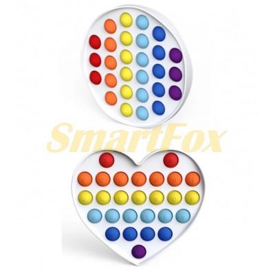 Игрушка-антистресс Pop it на жесткой основе Simple Dimple MIX