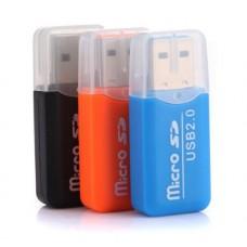Картридер USB Micro SD C1-C4 (цвета в ассортименте)