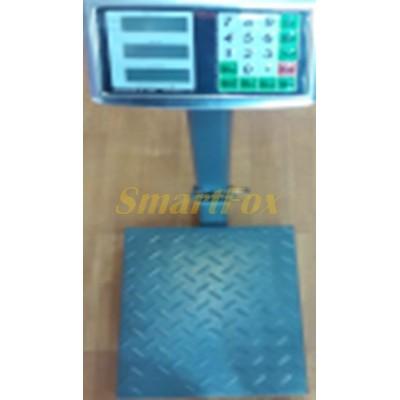 Весы торговые электронные со стойкой, усиленной платформой и цифровым диспеем от 50гр. до 100кг