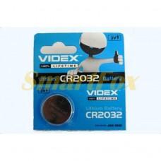 Батарейка VIDEX часовая литиевая 3V CR2032/5004LC (цена за 1шт, продажа упаковкой 5шт)