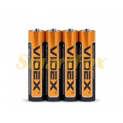 Батарейка VIDEX 1.5V АAA R03P (цена за 1шт, упаковка 4шт)