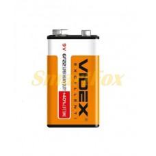 Батарейка VIDEX 9V 6F22 (крона)