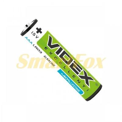Батарейка VIDEX ALKALINE 1.5V AAA LR03 (цена за 1шт, продажа упаковкой 2шт)