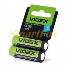 Батарейка VIDEX ALKALINE 1.5V AA LR6 (цена за 1шт, продажа упаковкой 2шт)