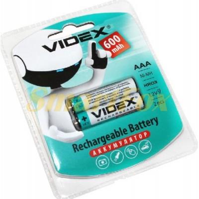 Аккумулятор VIDEX Rechargeable R-03 600mAh 1.2V (HR03,size AAA,NiMN) (цена за 1шт, продажа упаковкой