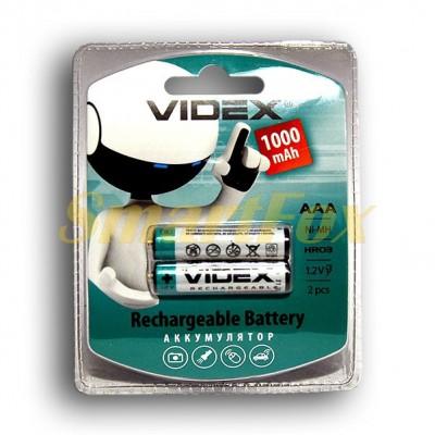Аккумулятор VIDEX Rechargeable R-03 1000mAh 1.2V (HR03,size AAA,NiMN) (цена за 1шт, продажа упаковко