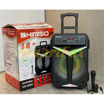 Портативная колонка Bluetooth в виде чемодана KIMISO QS-1265 BT (12`BASS / 3000W)