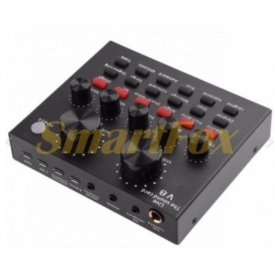 Внешняя звуковая карта V8 USB-гарнитура для микрофона (15х10)