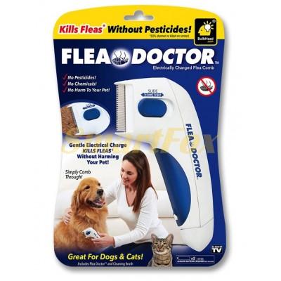 Расческа электрическая от блох для собак и котов ST416 Flea Doctor