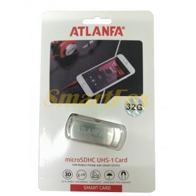 Флеш память USB 2.0 32Gb ATLANFA AT-U1 с цепочкой