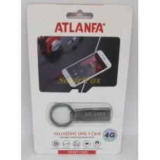 Флеш память USB 2.0 4Gb ATLANFA AT-U2 мини с кольцом для ключей
