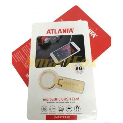 Флеш память USB 2.0 8Gb ATLANFA AT-U2 мини с кольцом для ключей