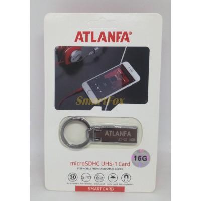 Флеш память USB 2.0 16Gb ATLANFA AT-U2 мини с кольцом для ключей