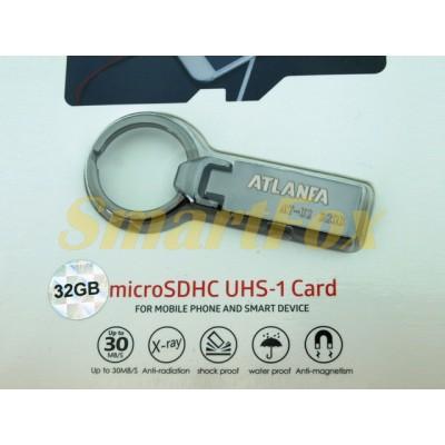 Флеш память USB 2.0 32Gb ATLANFA AT-U2мини с кольцом для ключей