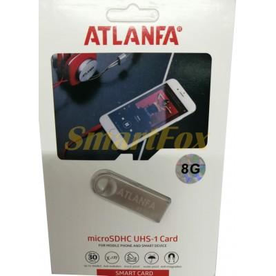 Флеш память USB 2.0 8Gb ATLANFA AT-U3мини с отверствиемдля ключей