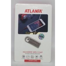 Флеш память USB 2.0 16Gb ATLANFA AT-U3мини с отверствиемдля ключей