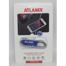 Флеш память USB 2.0 8Gb ATLANFA AT-U5 с брелком для ключей