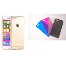 Чехол-накладка для iPhone 6 TPU I6 TOP гибкий прозрачный ТПУ