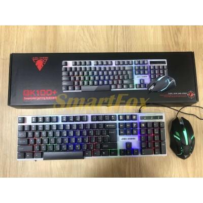 Клавиатура + мышь проводные JEDEL COMBO GK100+ RGB
