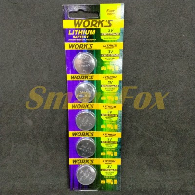 Батарейка WORKS CR2025 (цена за 1шт, продажа упаковкой 5шт)