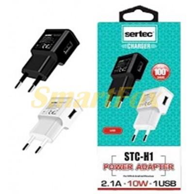 СЗУ USB SERTEC STC-H1-H2 5W 2100mAh + кабель Lightning