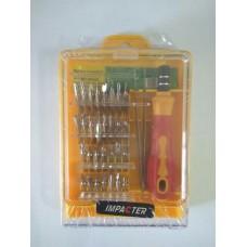 Набор отверток ME-6032E 32 в 1 для мобильных телефонов с держателем и пинцетом