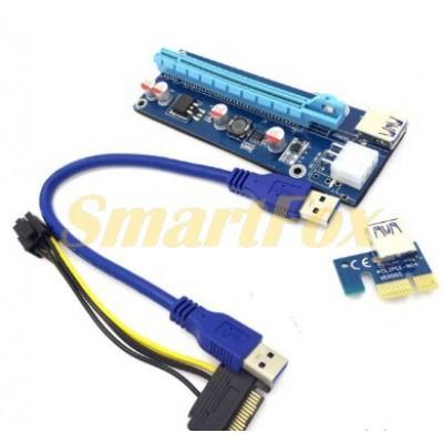 Набор RISER PCI-E для видеокарты 6 pin