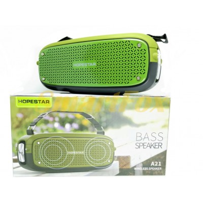 Портативная колонка Bluetooth HOPESTAR A21 Зеленый