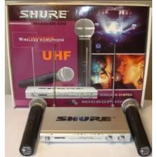 Комплект из двух радиомикрофонов со станцией UHF 500-550MHz SHURE SM-500