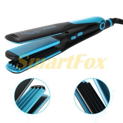 Утюжок для волос Kemei KM-2209 2в1 выравнивание и гофре